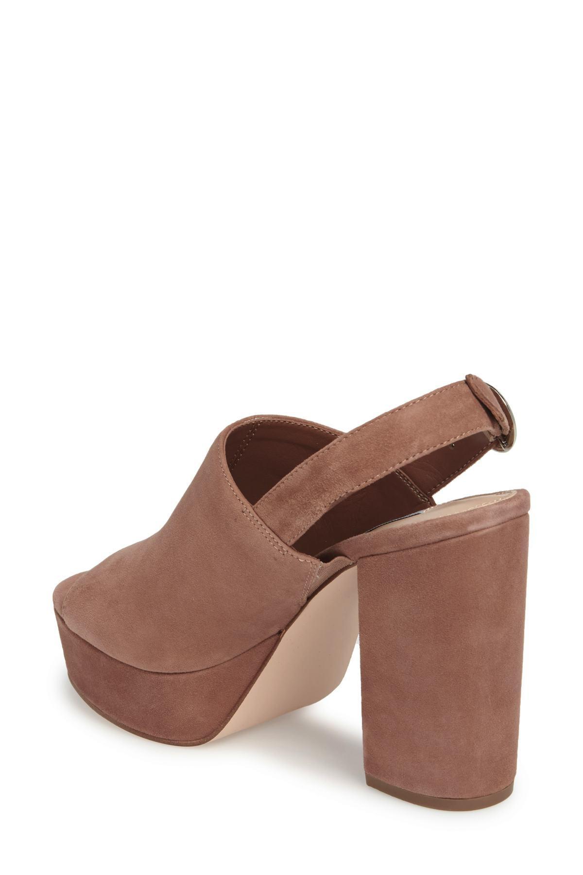 7156b2443157 Steve Madden - Brown Carter Slingback Platform Sandal (women) - Lyst. View  fullscreen