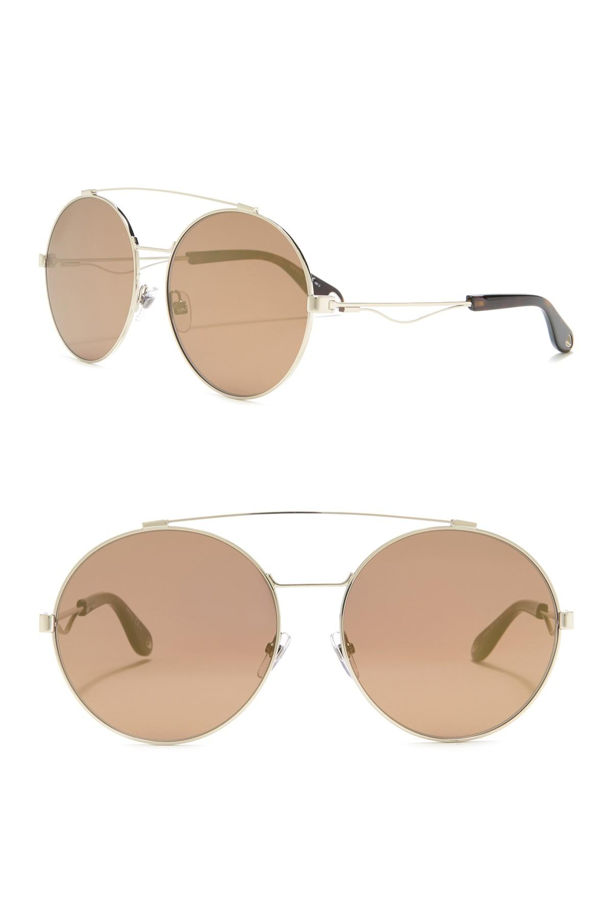 cc7a224b3828 Givenchy 62mm Oval Aviator Sunglasses - Lyst