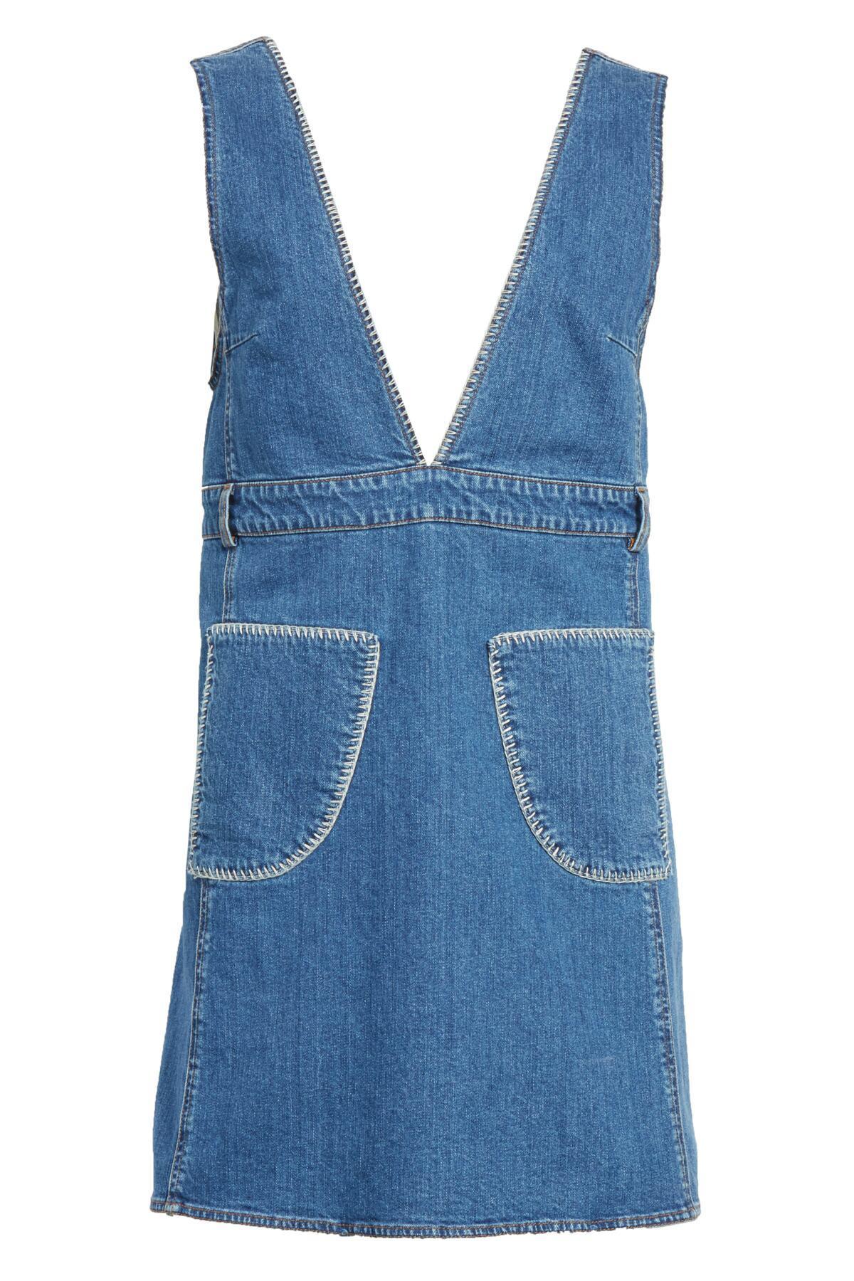 7ad60bcbd16a Lyst - See By Chloé Denim V-neck Dress in Blue - Save 19%
