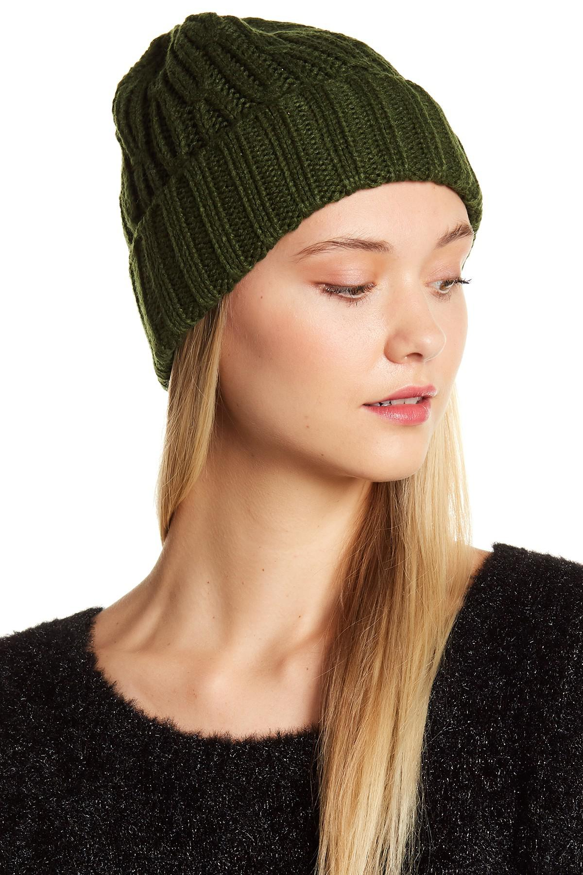 Lyst - MICHAEL Michael Kors Ribbed Cable Kit Cuffed Hat d7d044d3192
