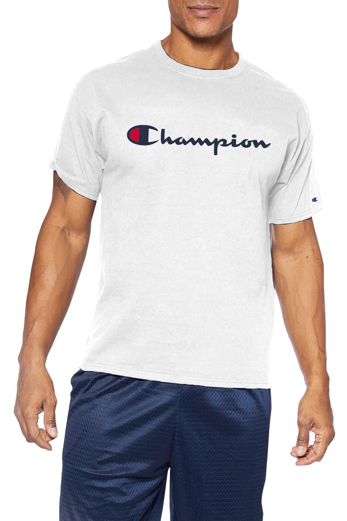a08cd1b07 Champion - White Short Sleeve Logo Graphic Tee (big & Tall) for Men -. View  fullscreen