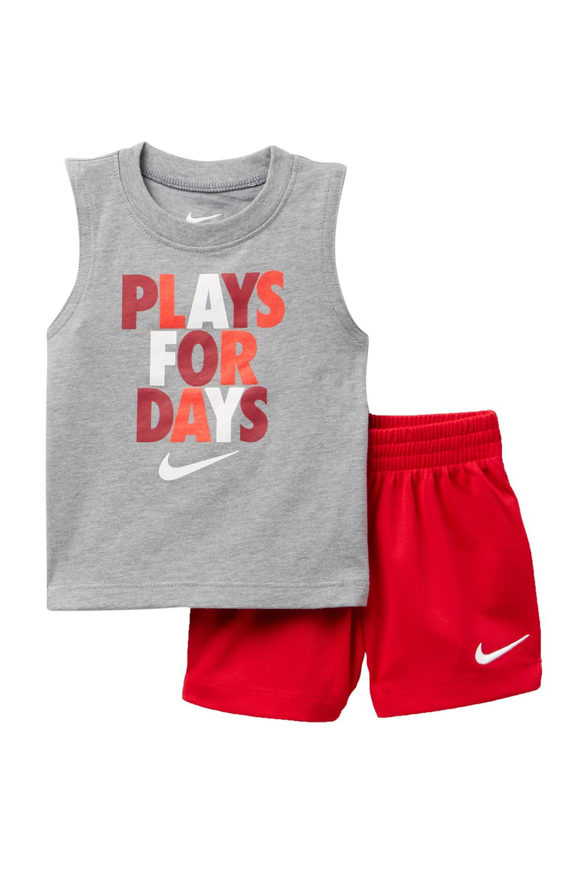 Lyst - Nike Plays 4 Days Muscle Tee   Shorts Set - 2 Piece (baby ... 89a153b9a