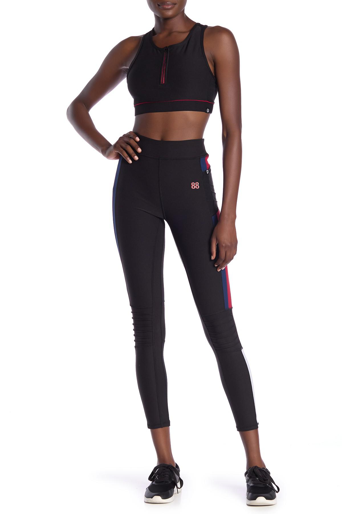 6a398dd531858 Lyst - X By Gottex Colorblock Tummy Control Leggings in Black