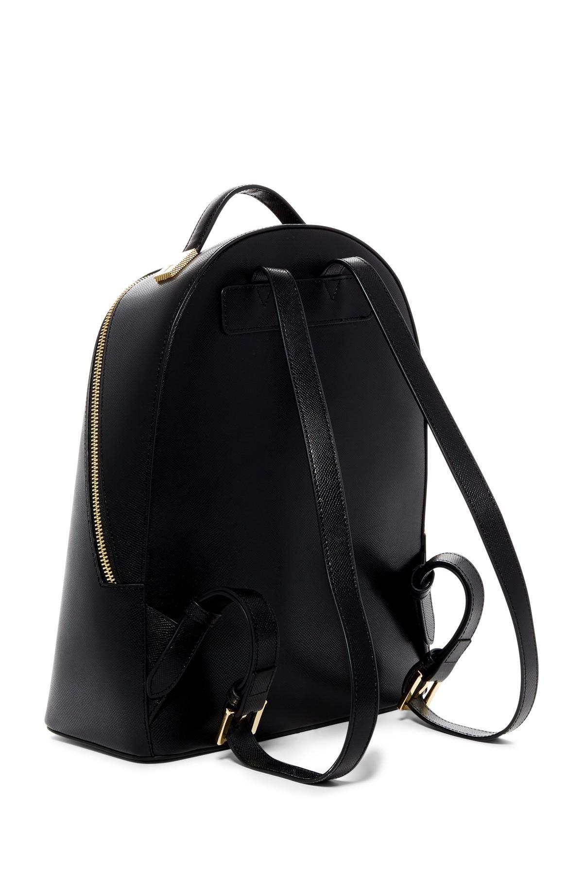 b7c17108e Lyst - Ted Baker Jarvis Mini Grain Leather Backpack in Black