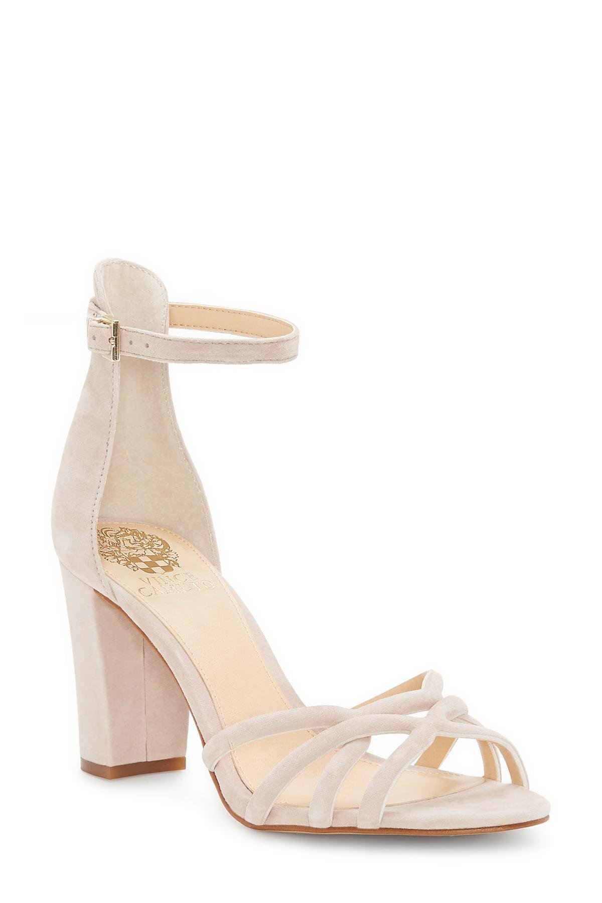 2005fe158a4 Lyst - Vince Camuto Catelia Ankle Strap Sandal (women) in Natural ...