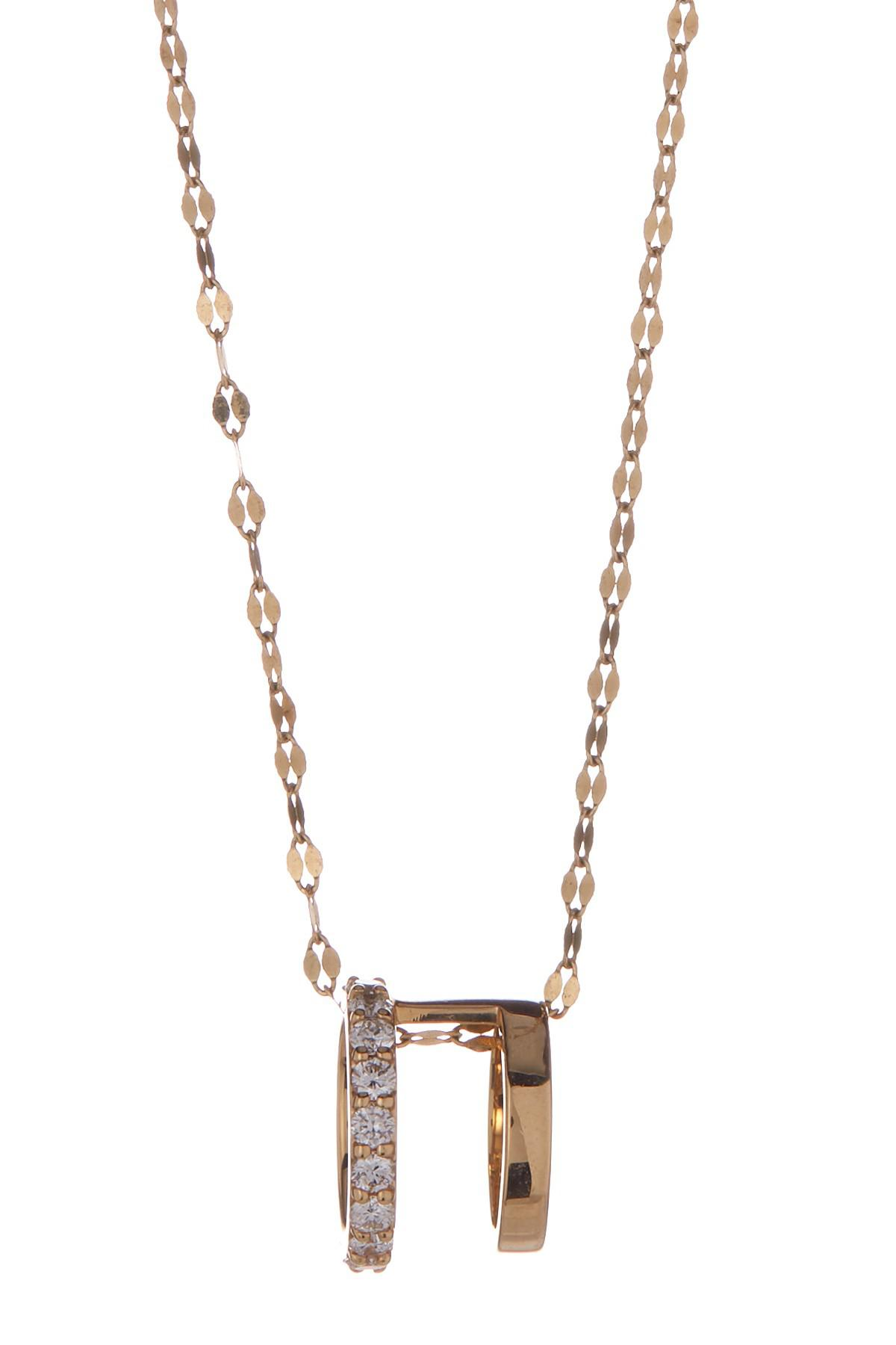 Lana Jewelry LUCK 14K Gold Pendant Necklace with Diamonds rgdy7NguOS