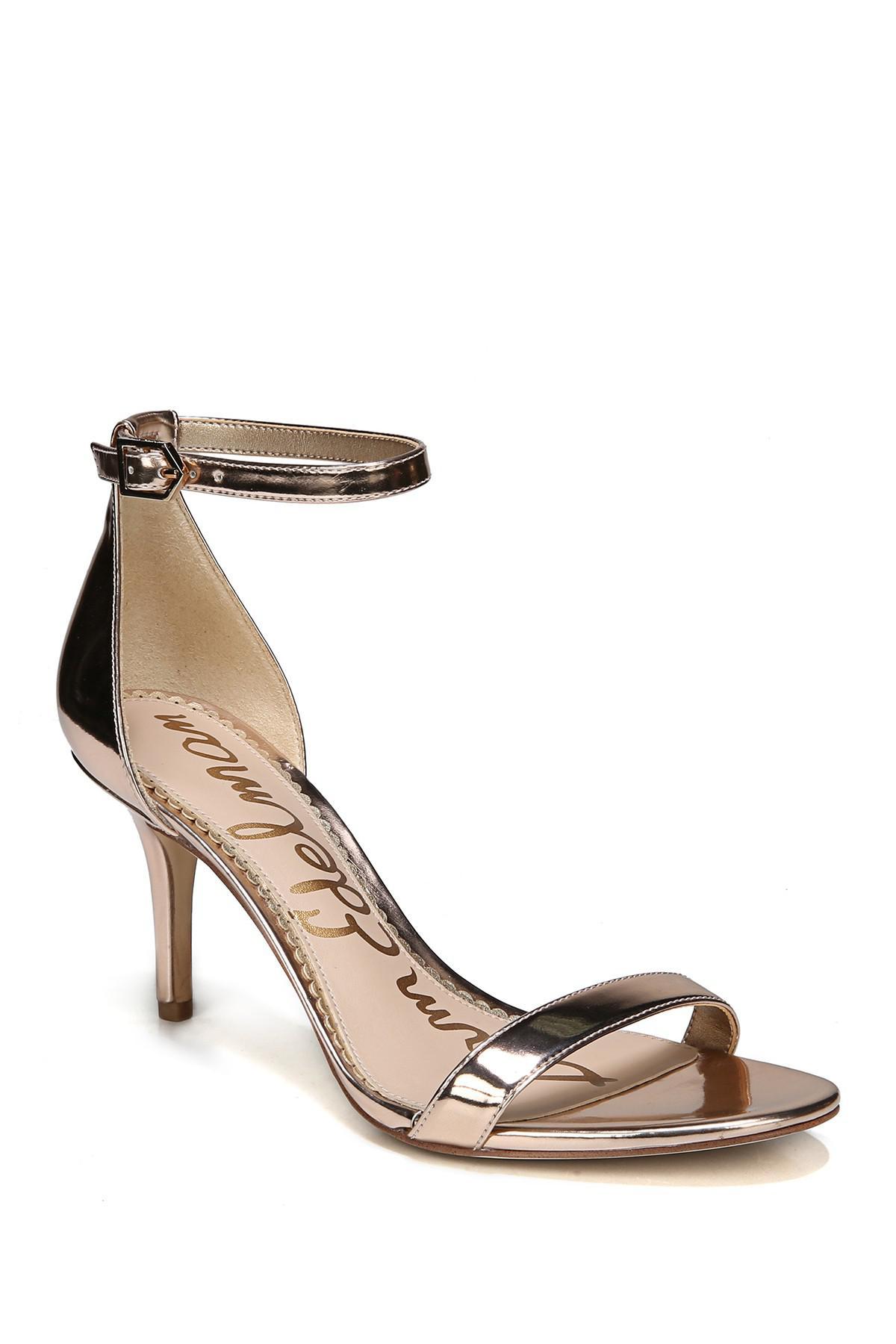 2da7a6c8dcc Lyst - Sam Edelman Patti Ankle Strap Sandal in Metallic