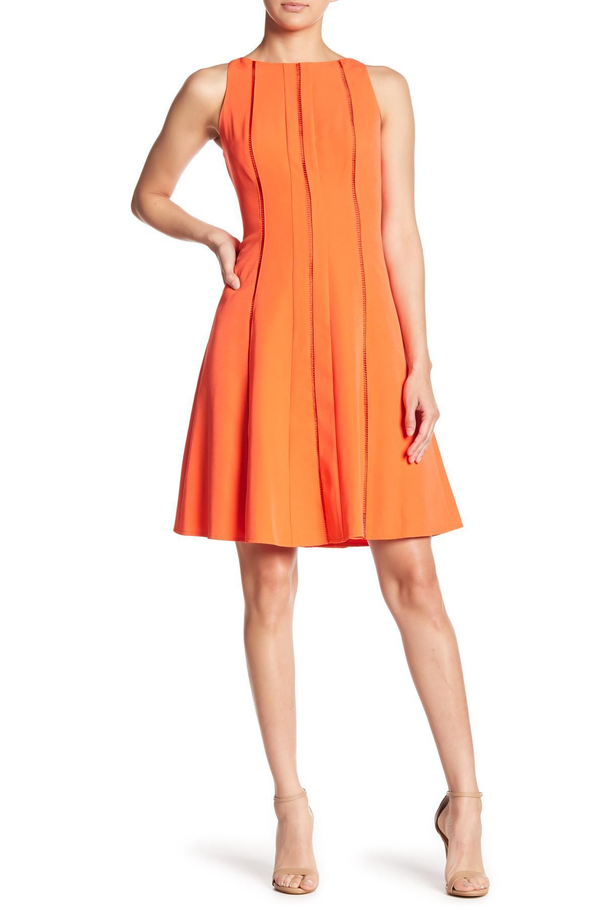 2f82cbf9 Lyst - Maggy London Dream Crepe Fit & Flare Dress in Orange