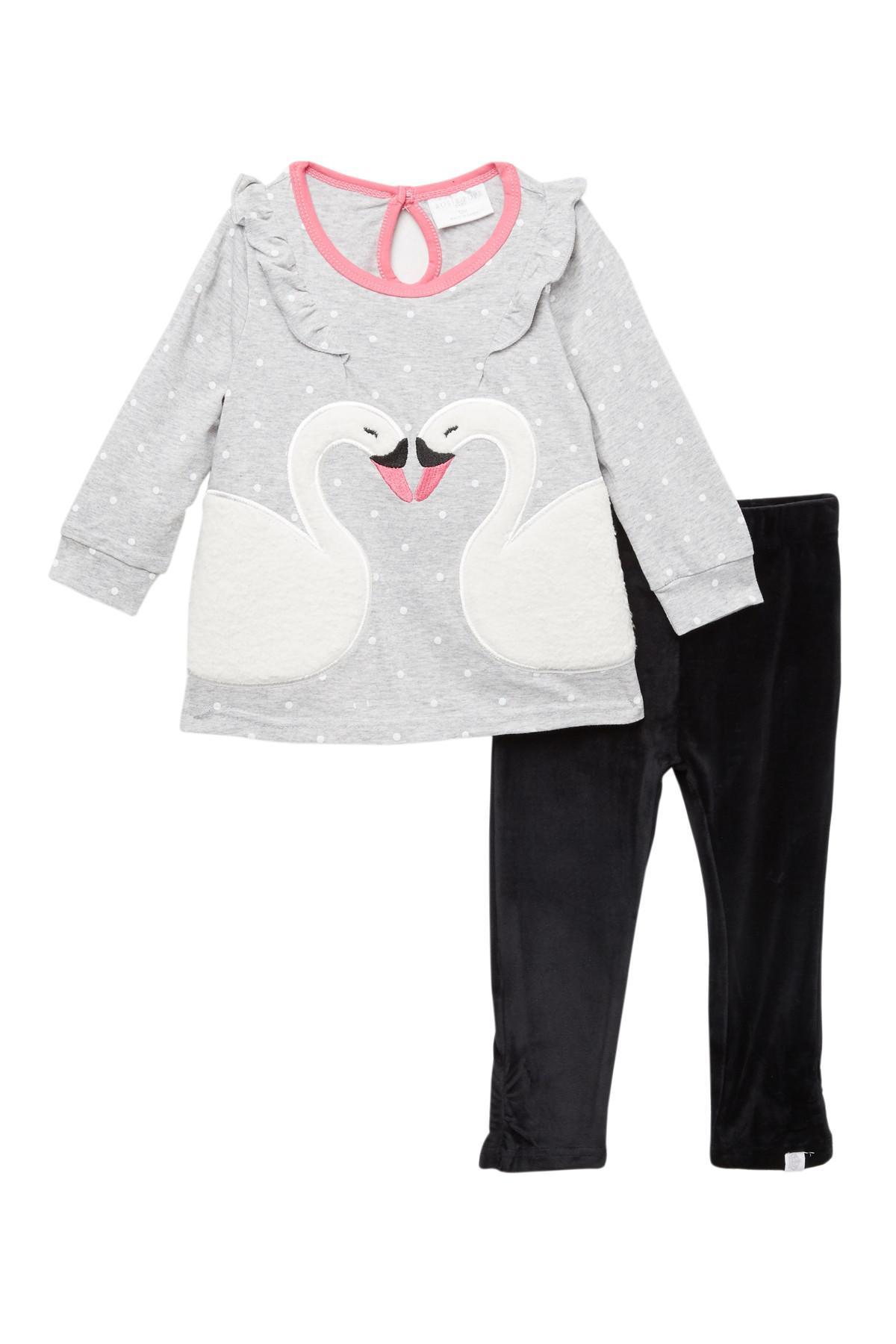 1adb66accba29 Rosie Pope Flutter Swan Tunic & Leggings Set (baby) in Gray - Lyst