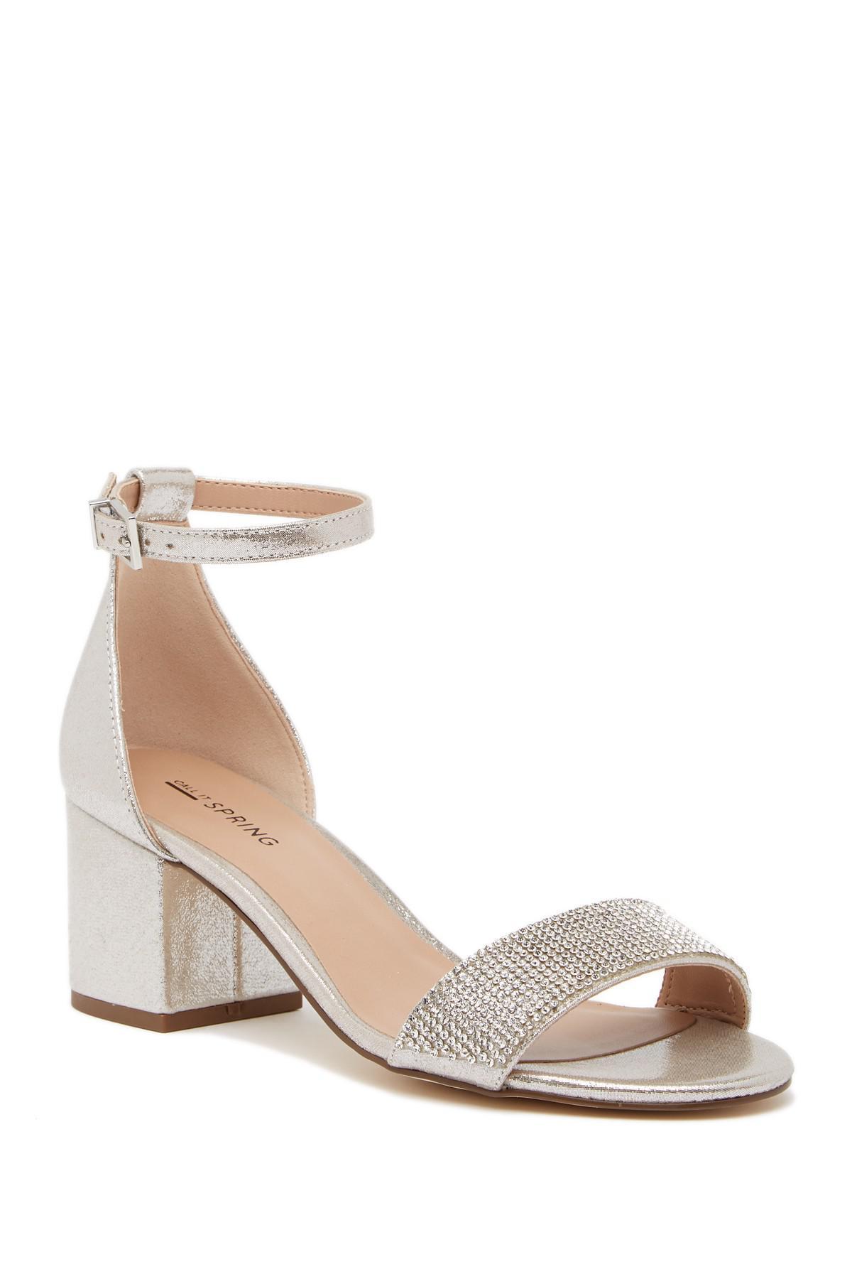 cc8b0a62b53 Lyst - Call It Spring Theladien Block Heel Sandal in Metallic