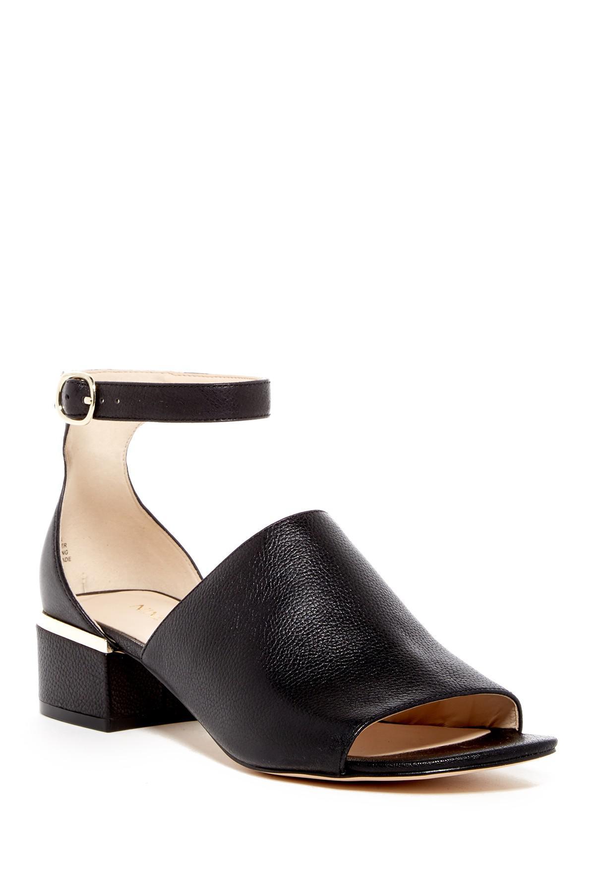 Lyst Nine West Yorada Leather Sandal In Black