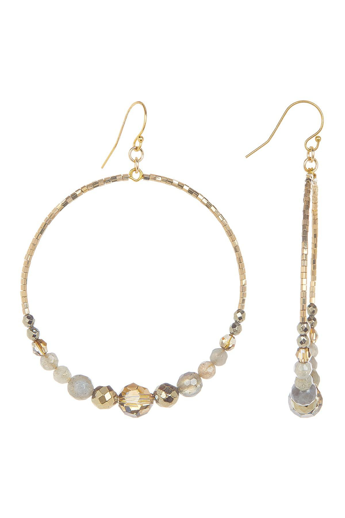 Chan Luu Gold-plated Beaded Earrings pOrVa