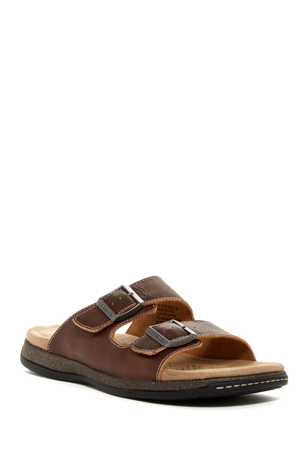 Lyst G H Bass Amp Co Hargrove Slide Sandal In Brown For Men