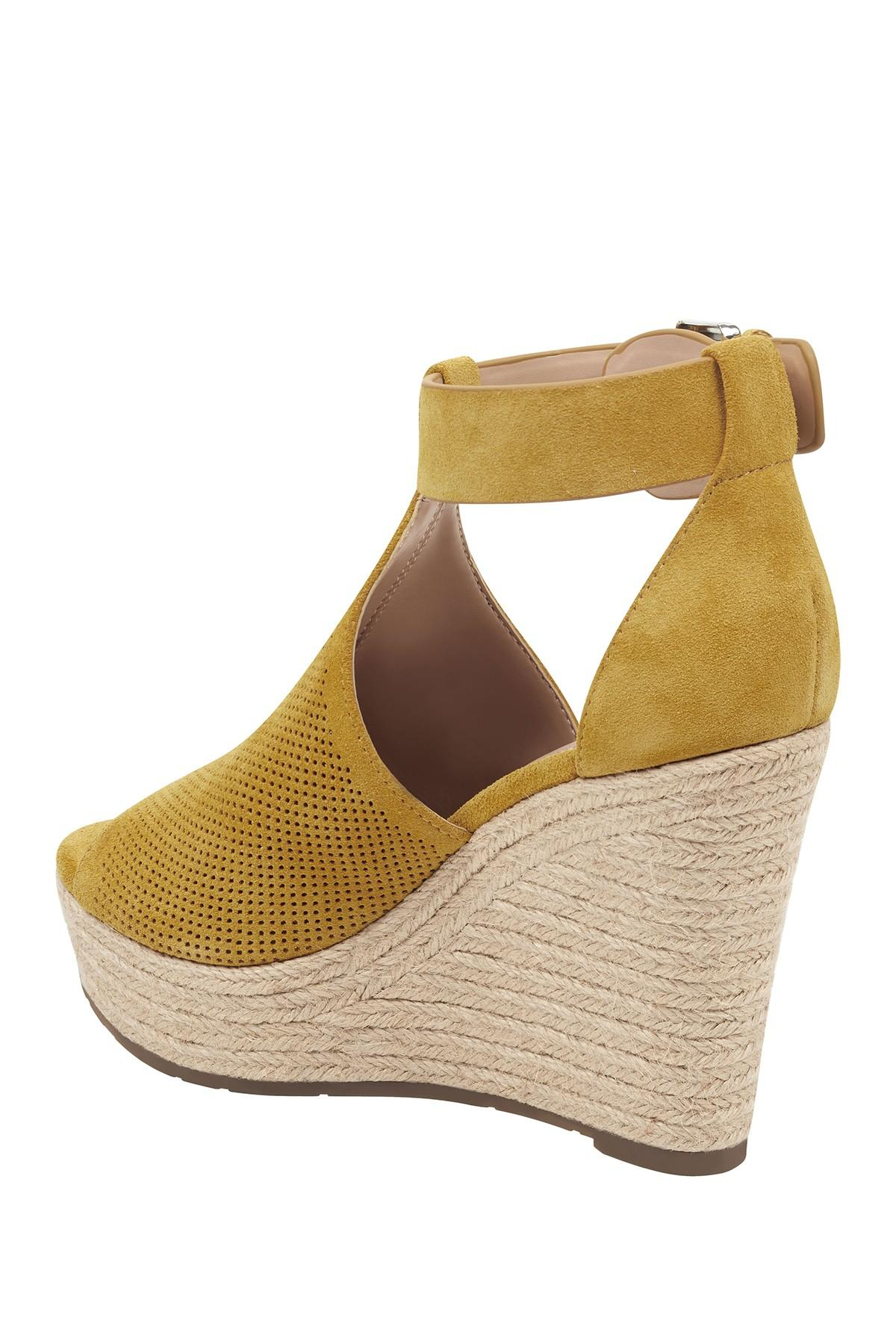 675fa57e4e Marc Fisher - Multicolor Allison Perforated Espadrille Platform Sandal -  Lyst. View fullscreen