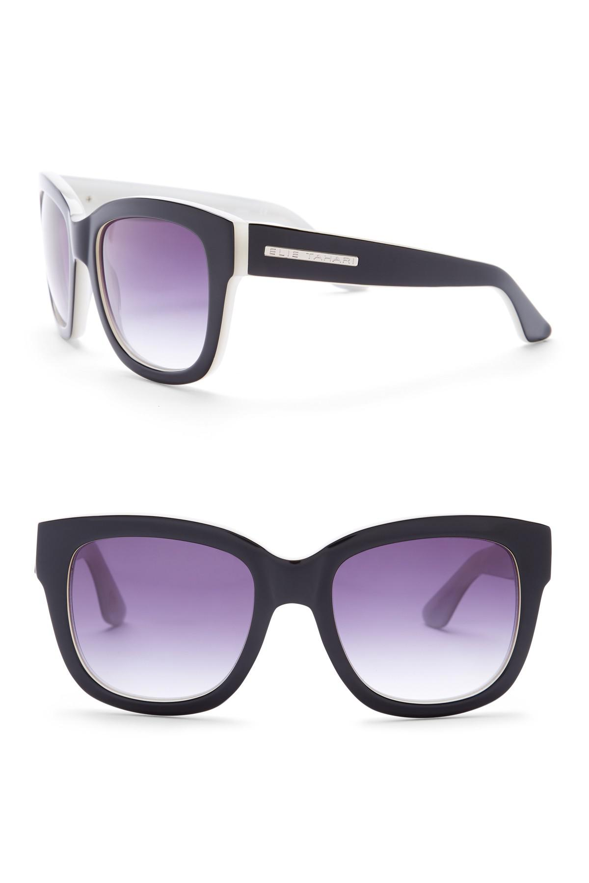 76867b3d8 Elie Tahari Women's 53mm Square Glam Sunglasses in Purple - Lyst
