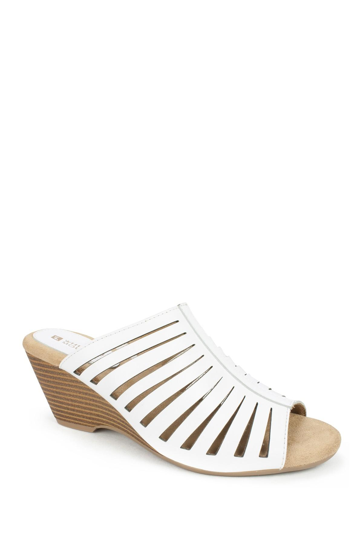 682f165f0 Lyst - White Mountain Footwear Pisces Caged Wedge Mule in White