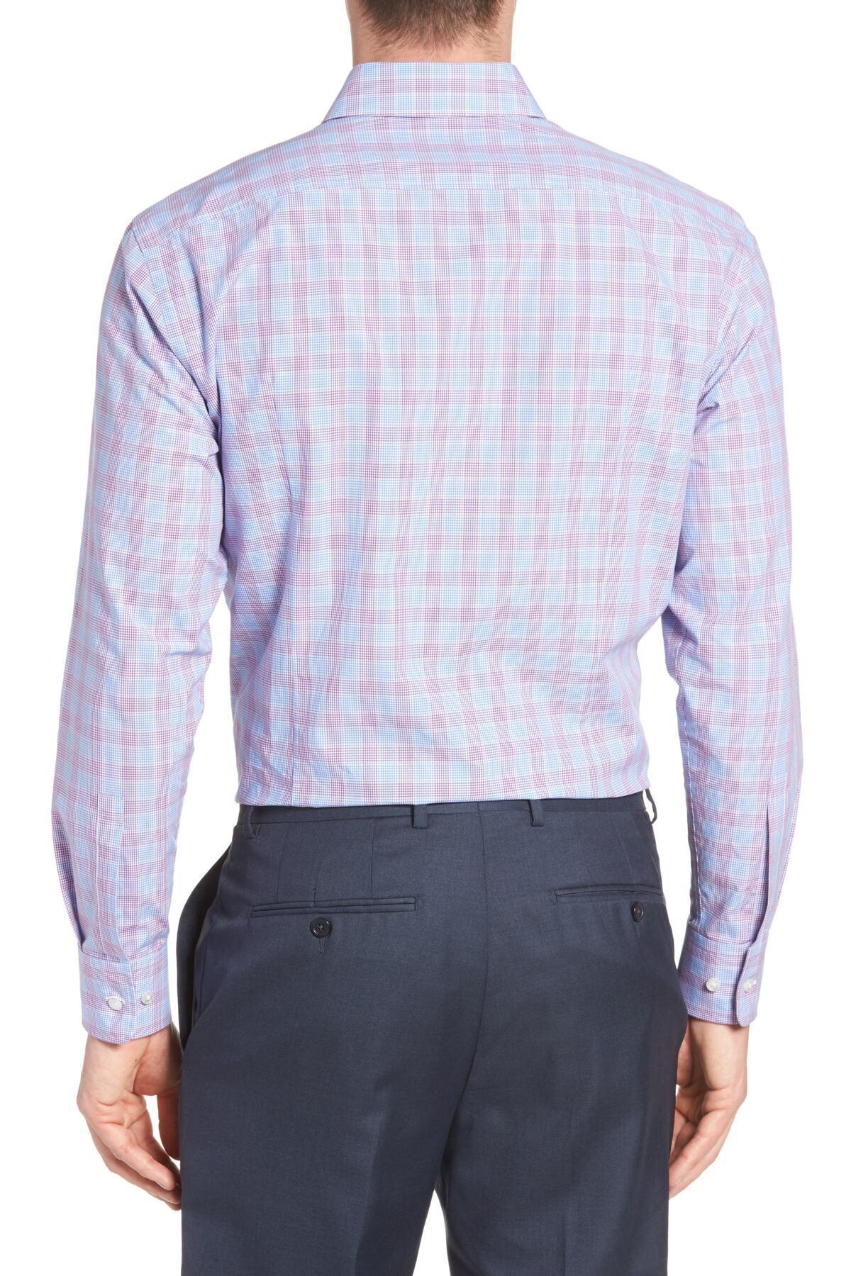 Boss Cotton Mark Sharp Fit Plaid Dress Shirt For Men Lyst