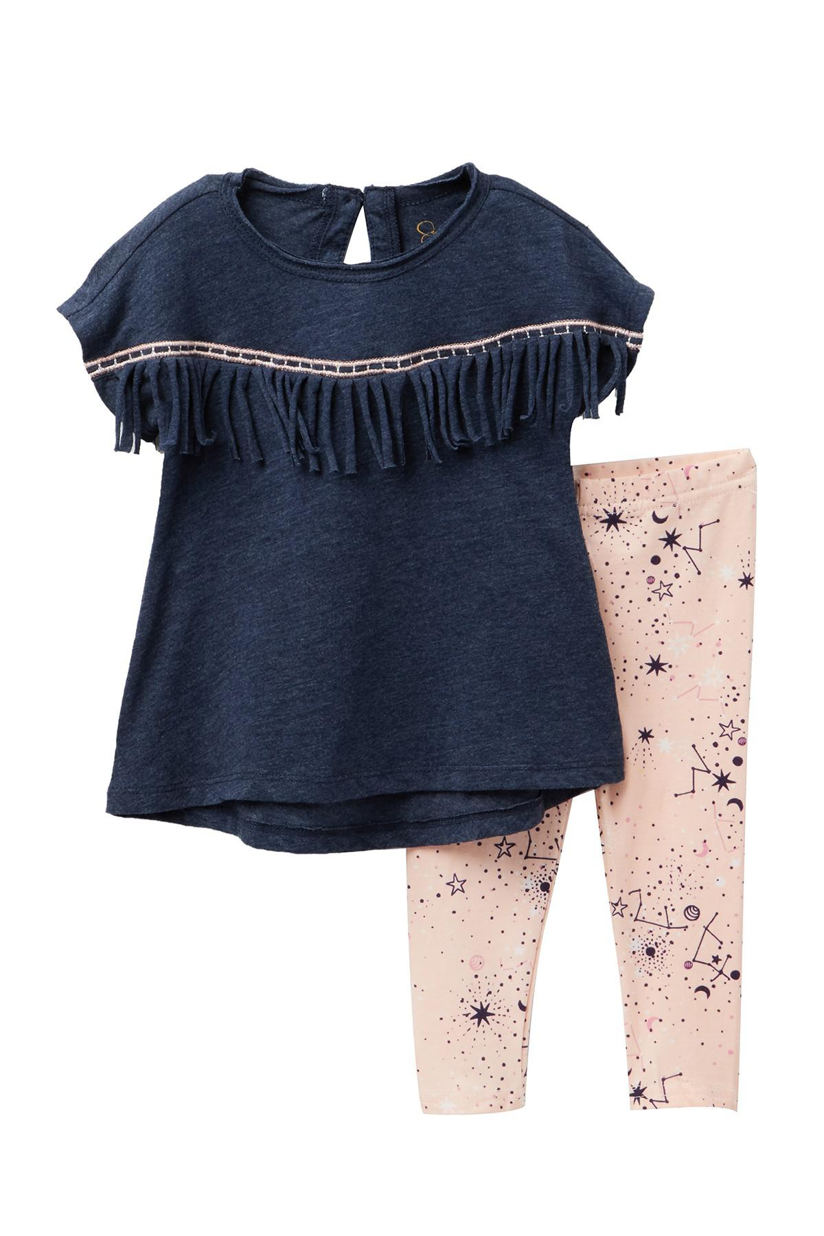 ba3564d5fb52f Lyst - Jessica Simpson Fringe Top & Leggings Set (baby Girls) in Blue