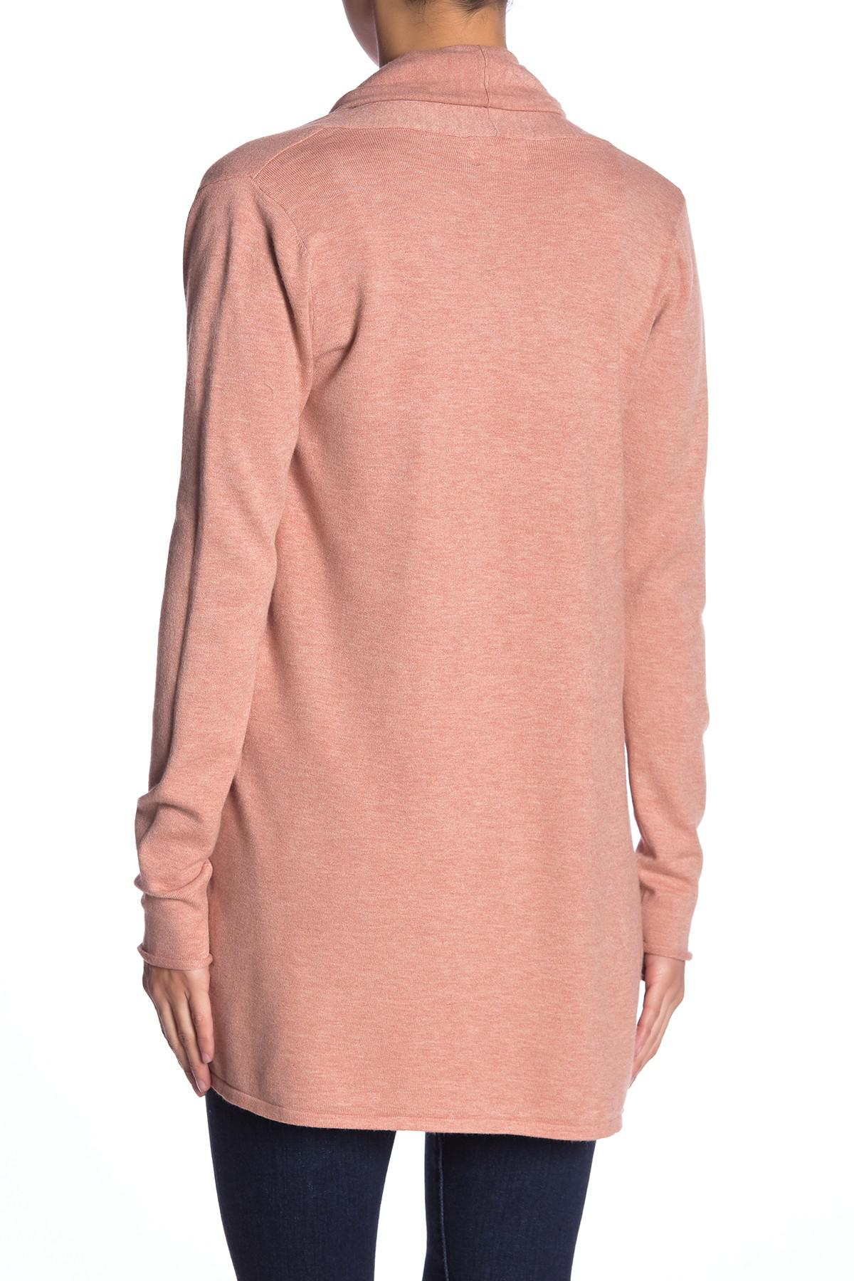 92dfc6fbb3 Lyst - Dreamers By Debut Open Front Lightweight Knit Cardigan in Pink