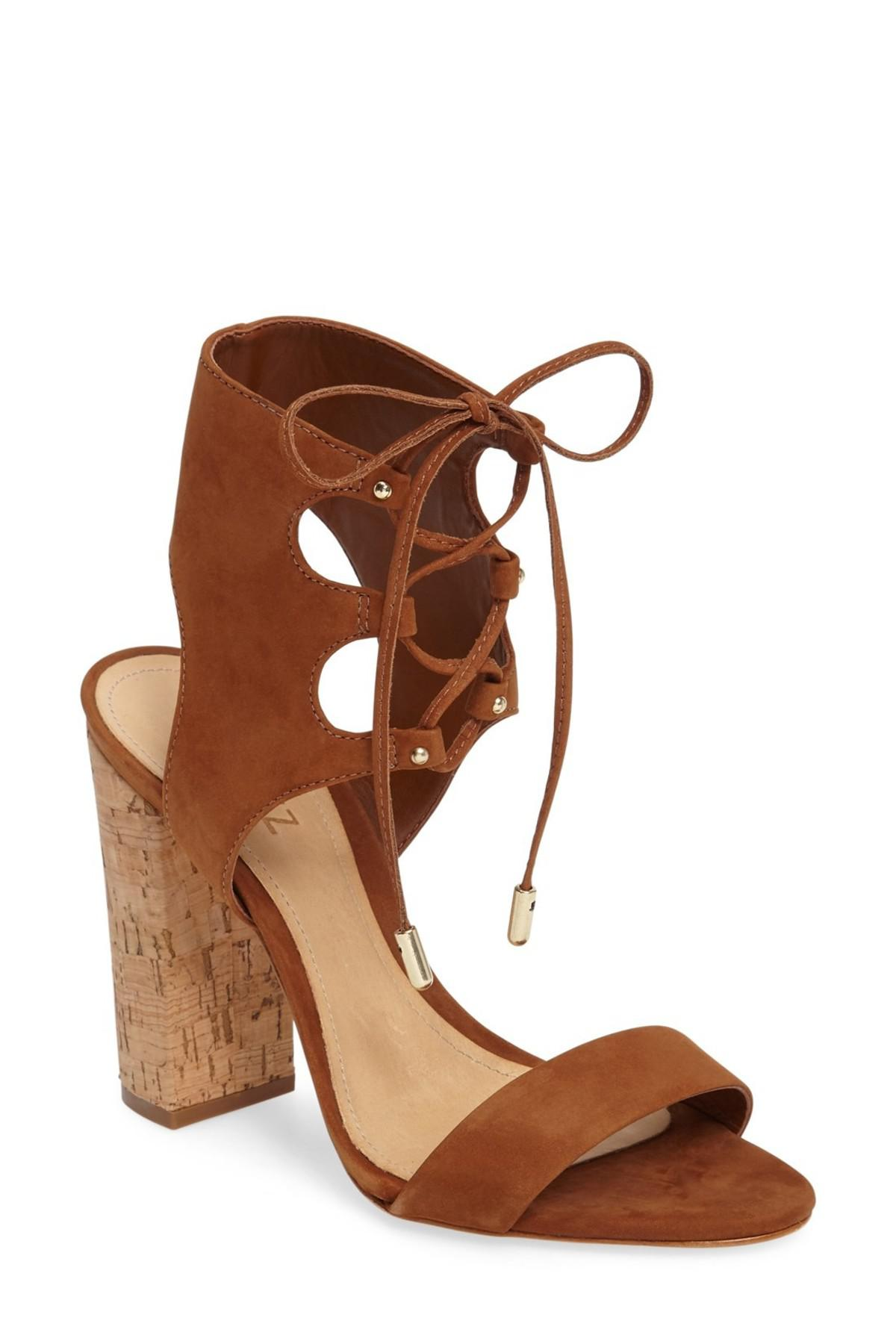 7fa73d5f5969 Lyst - Schutz Cruz Lace-up Cuff Sandal in Brown