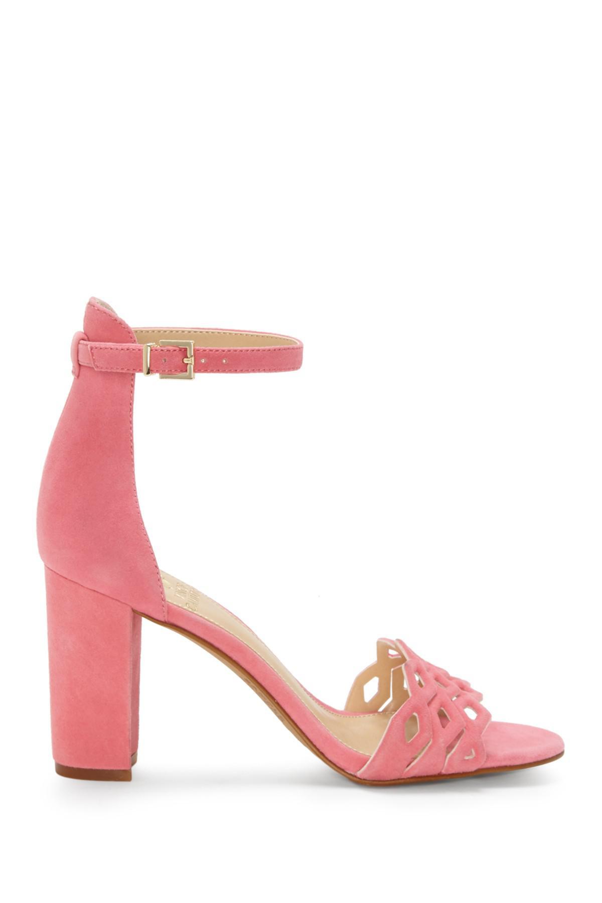 83e734081f6 Vince Camuto - Pink Caveena Block Heel Sandal (women) - Lyst. View  fullscreen