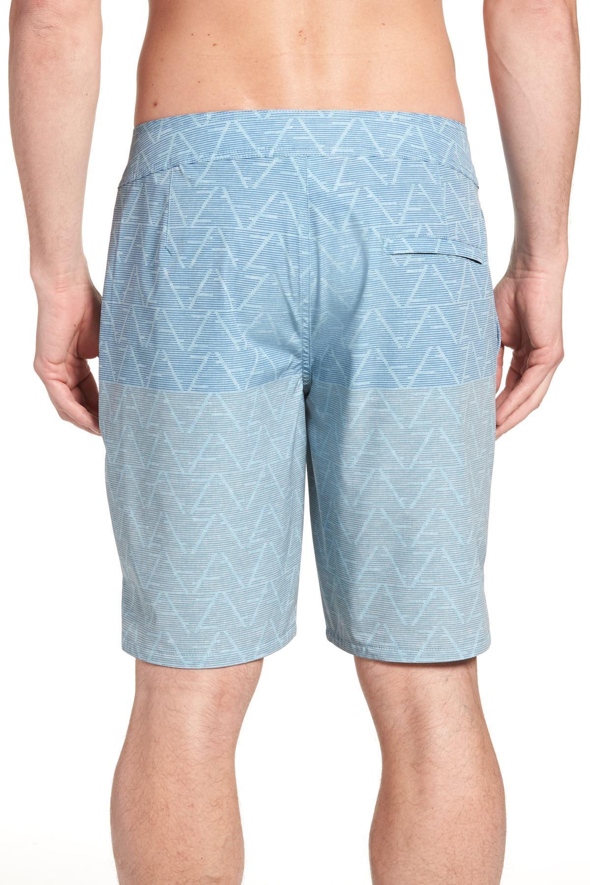 4692115ebd Travis Mathew - Blue Teepees Swim Trunks for Men - Lyst. View fullscreen
