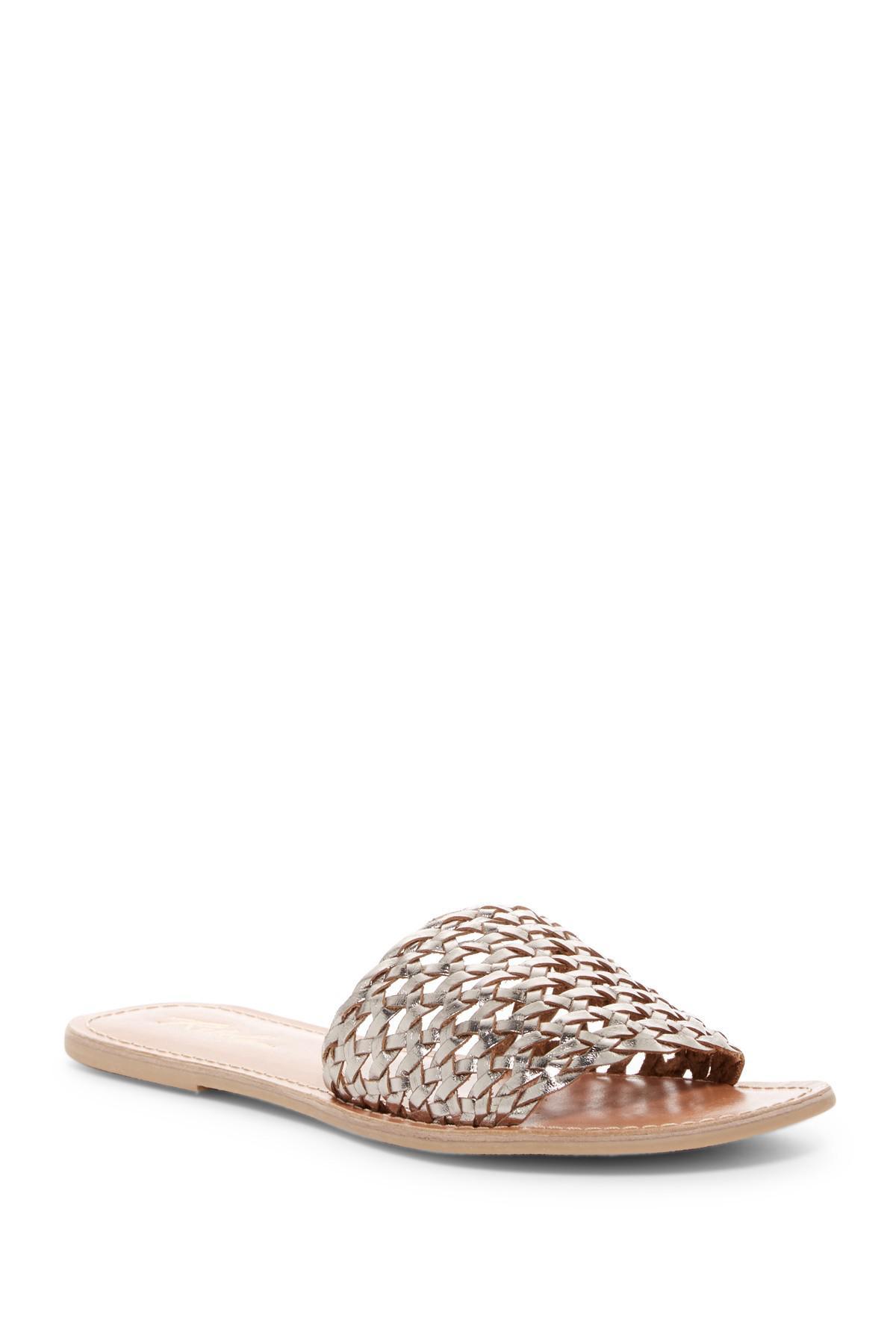 175794e98518 Lyst - Rebels Bettina Leather Lattice Slide Sandal
