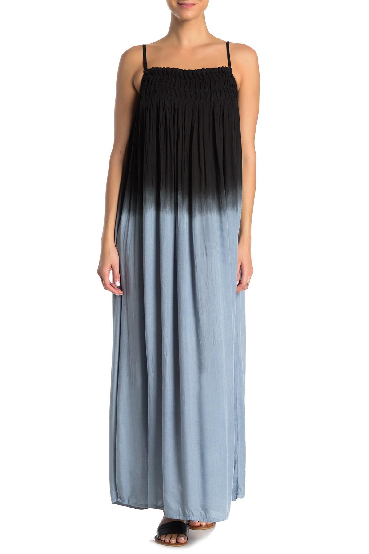 3135b10ee41 Lyst - Boho Me Tie-dye Ombre Maxi Dress in Black