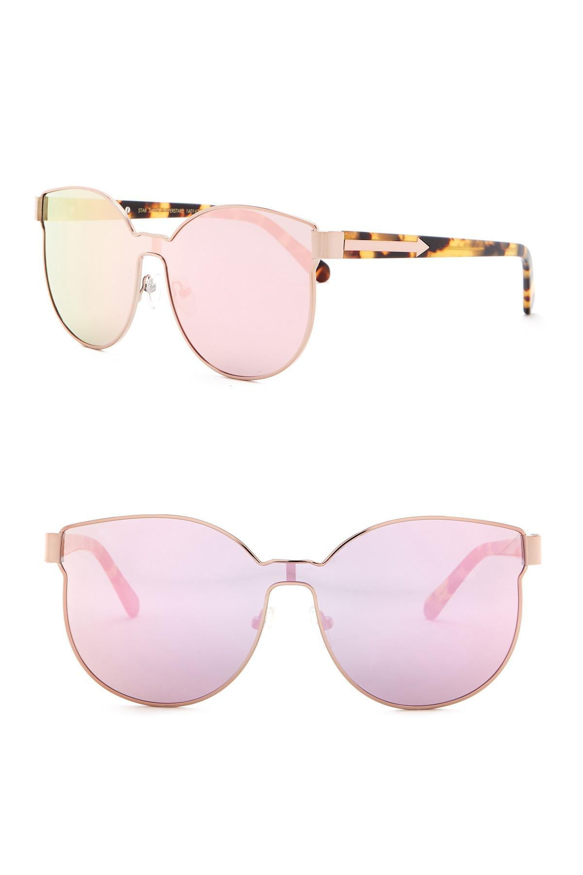 2fbe31e0e421 Lyst - Karen Walker Star Sailor Superstars Sunglasses in Pink