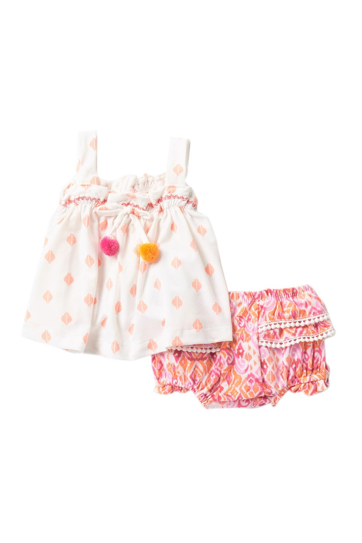 5ab3bc1ba Jessica Simpson Pompom Top & Bloomer Set (baby Girls) in Pink - Lyst