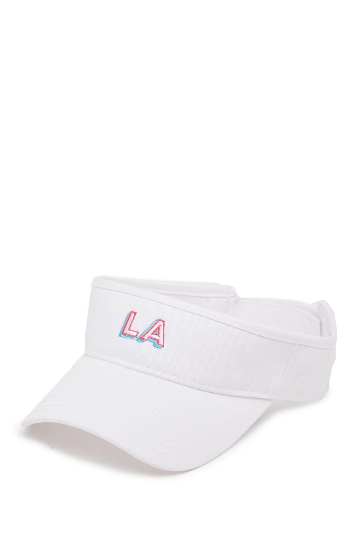 56717634233bd Lyst - American Needle Los Angeles Micro Visor in White for Men
