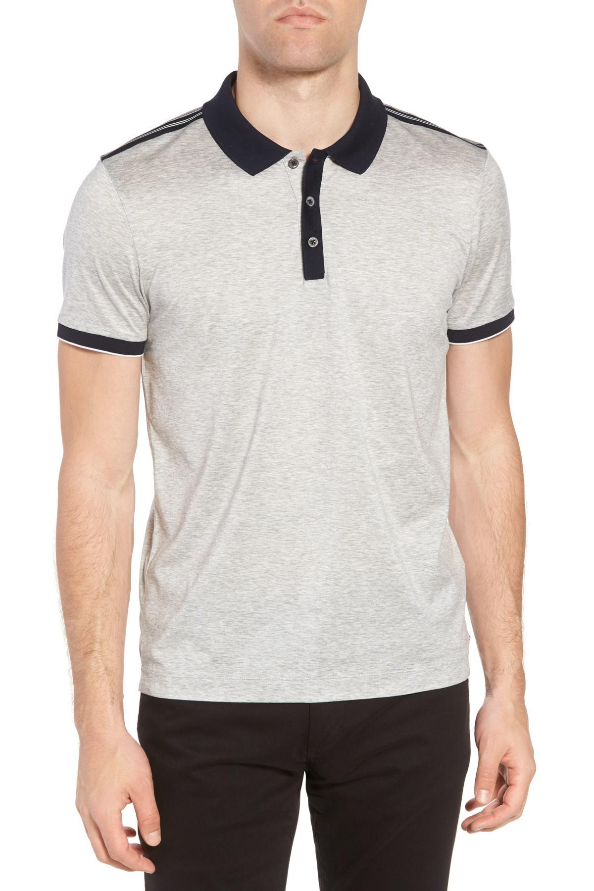 2e5139249 Lyst - BOSS Slim Fit Phillipson Polo in Gray for Men - Save ...