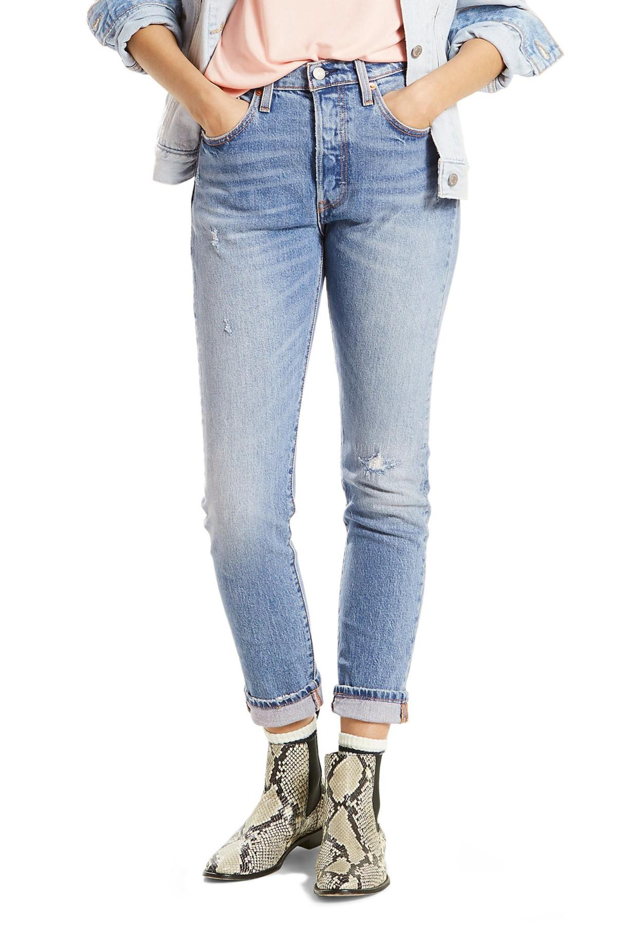 52f4c6b5eb7ea Lyst - Levi s 501 High Waist Skinny Jeans (post Modern Blues) in Blue
