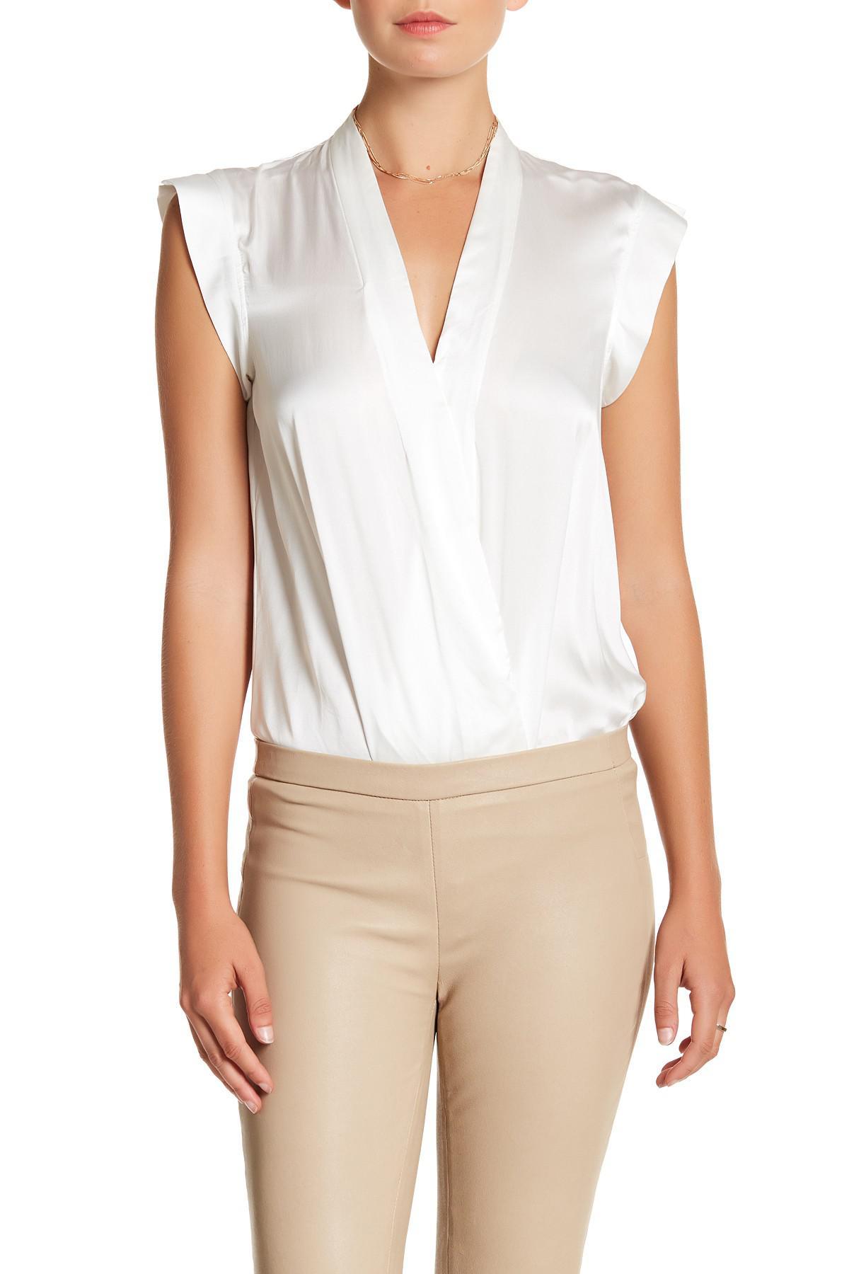 cf2506484 Lamarque Cinta Silk Bodysuit in White - Lyst