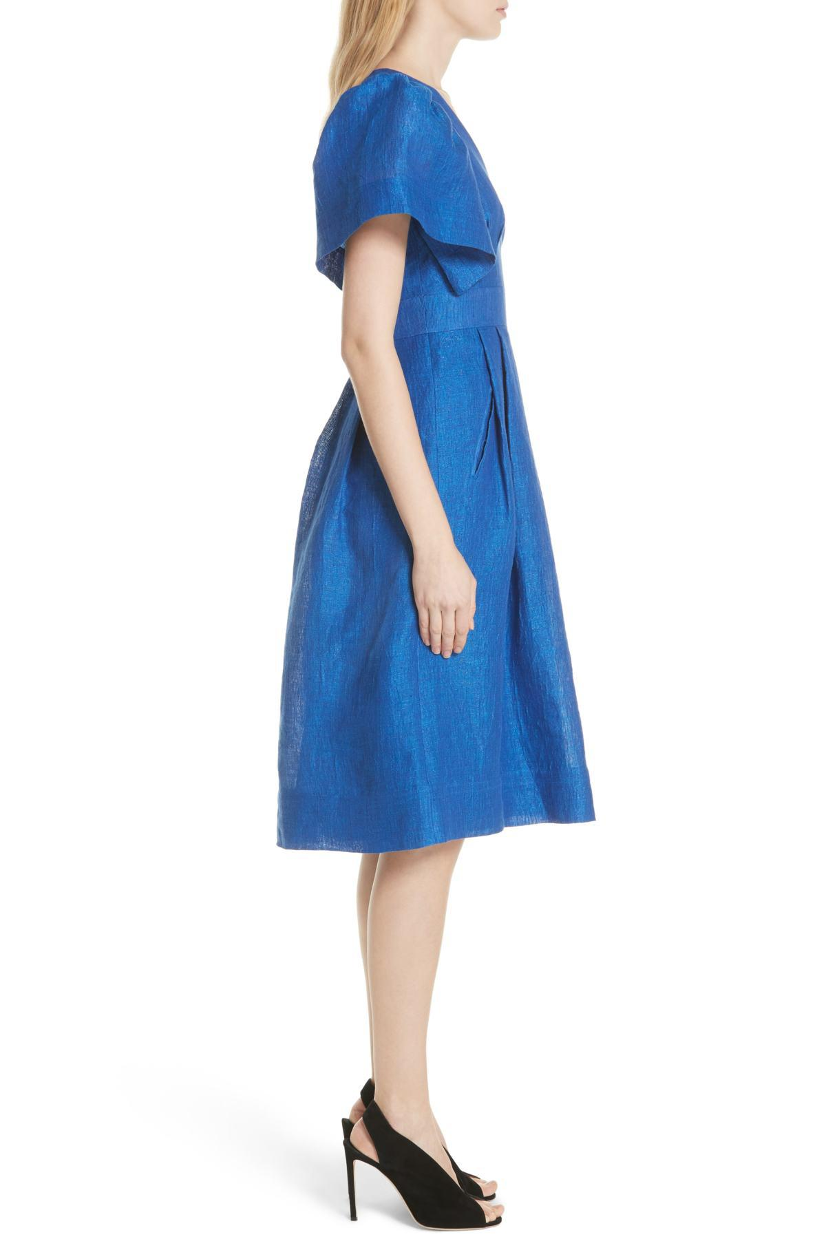 71750541a4 Lyst - Tracy Reese Open Sleeve Dress in Blue