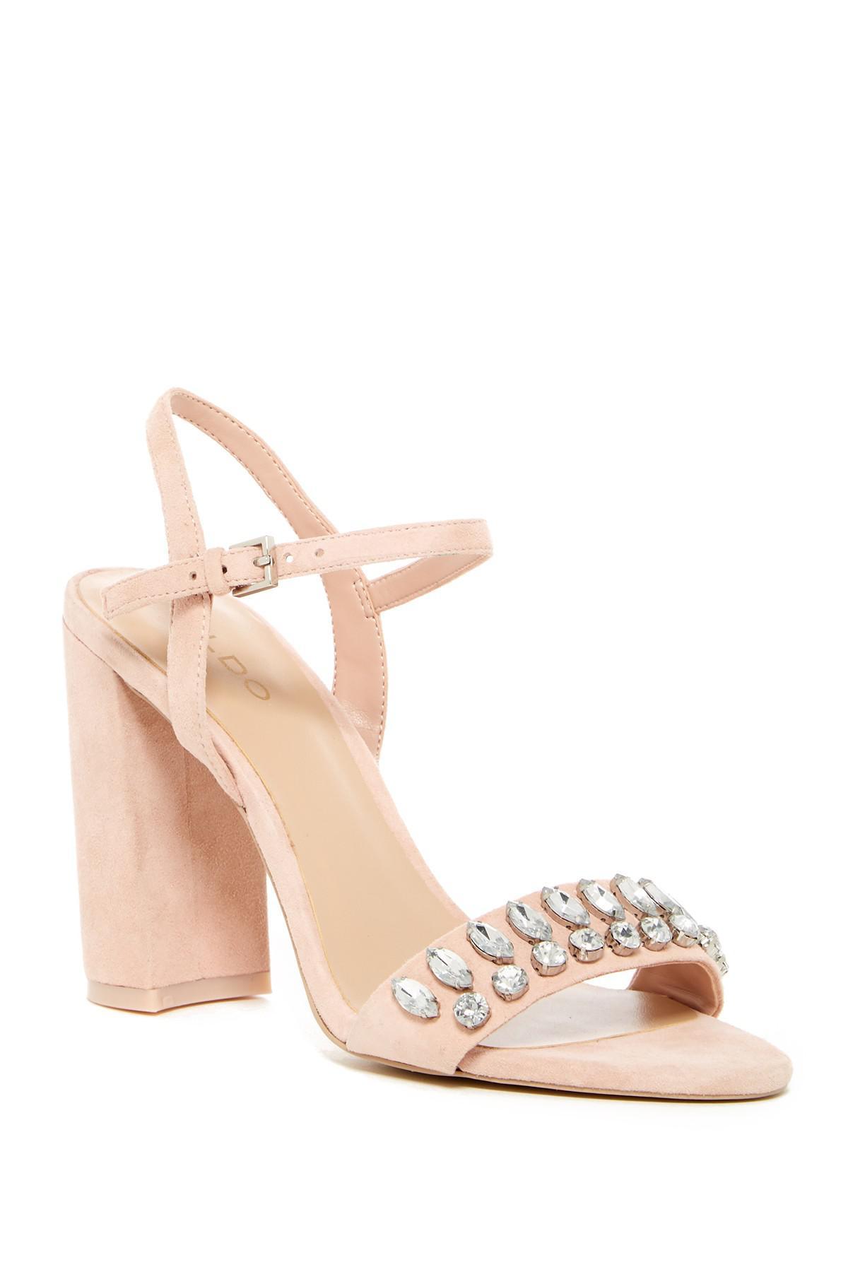 0ac09f8f215 Lyst - ALDO Viria Block Heel Sandal in Pink