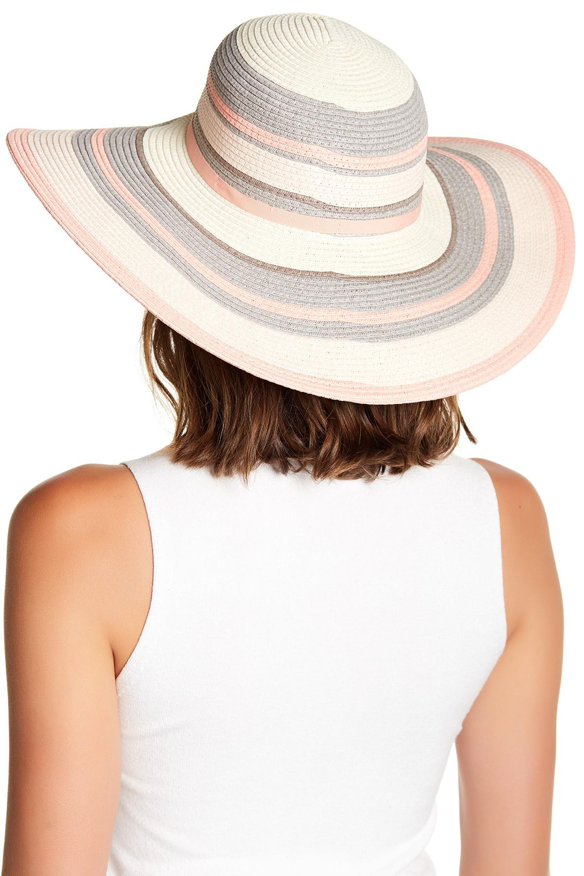 Lyst - Ted Baker Wide Brim Stripe Sun Hat in Natural 33a64efceadc