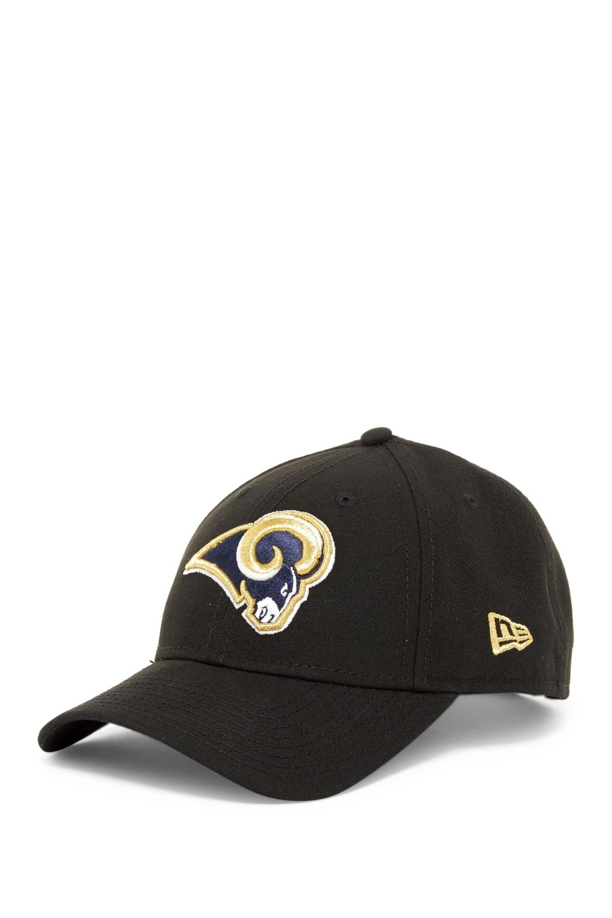 Ktz Nfl Los Angeles Rams Black Twill Football Cap In Black