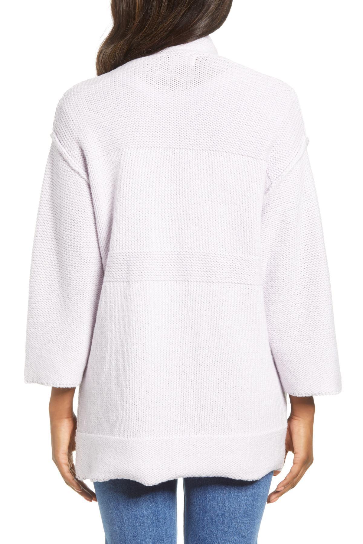 2379dfb28 ... Open Texture Stripe Cotton Blend Cardigan (regular   Petite. View  fullscreen