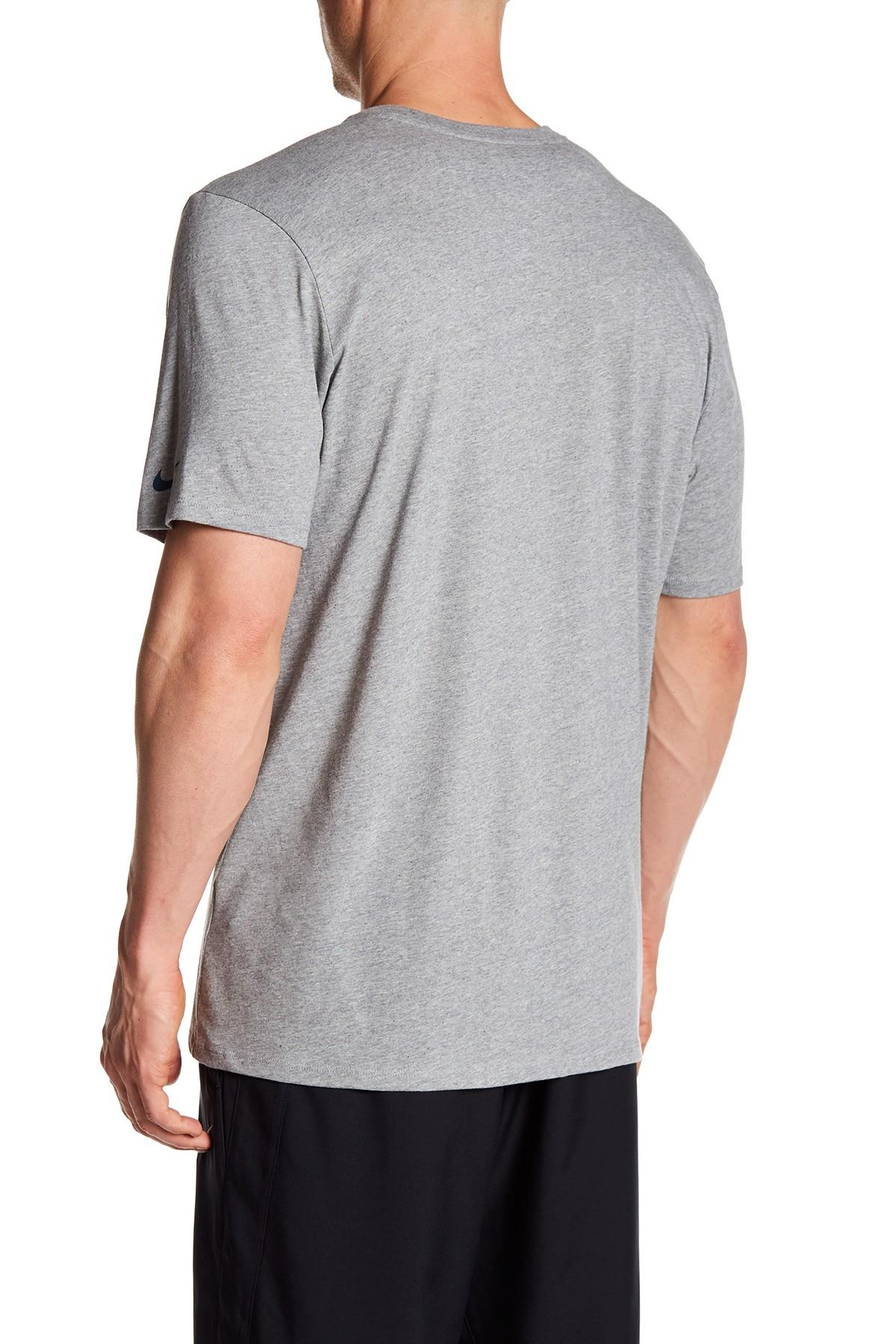 Lyst nike bball lockup athletic cut tee in gray for men for Mens athletic cut shirts