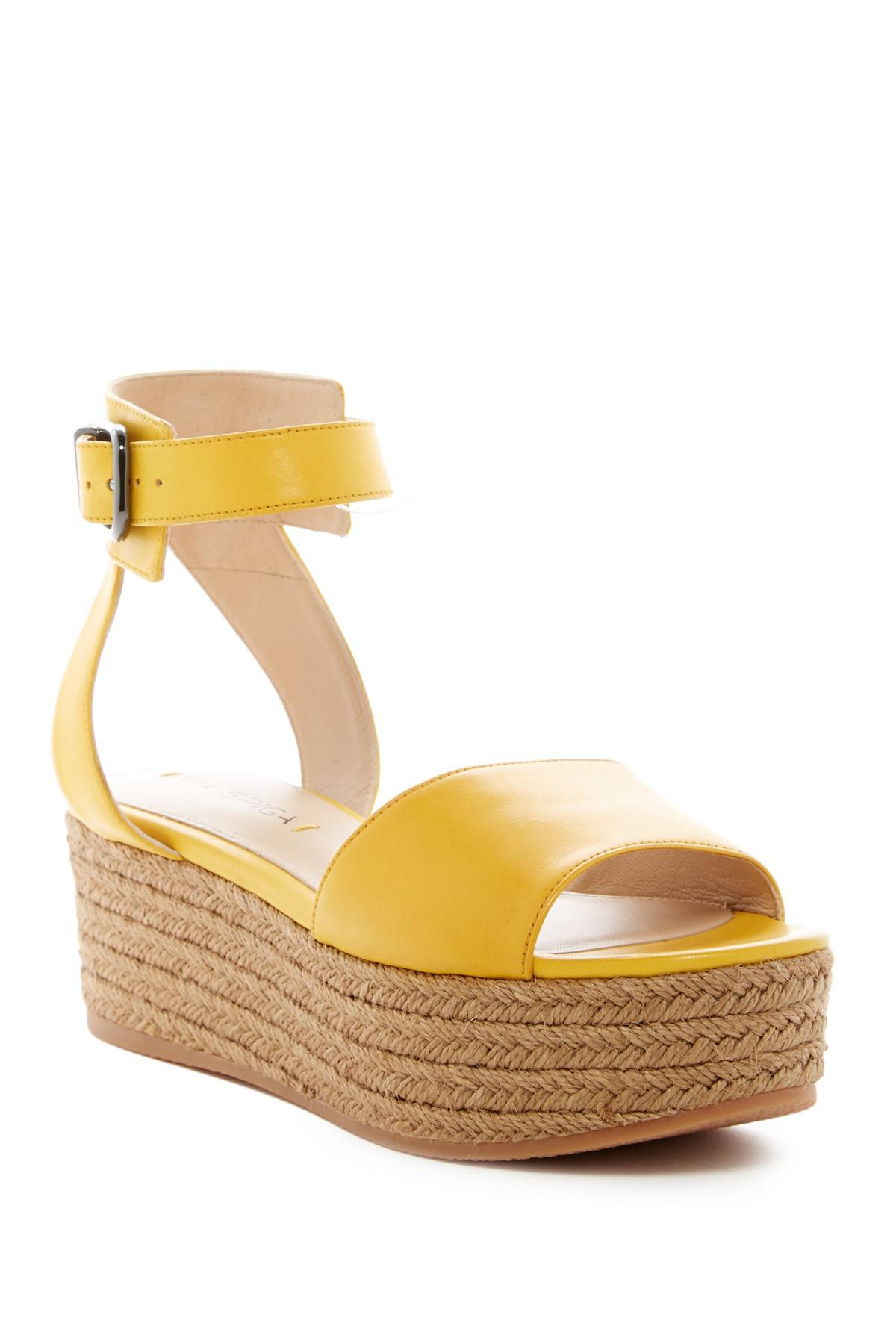 c116a6ce3777 Lyst - Via Spiga Nemy Platform Sandal in Yellow