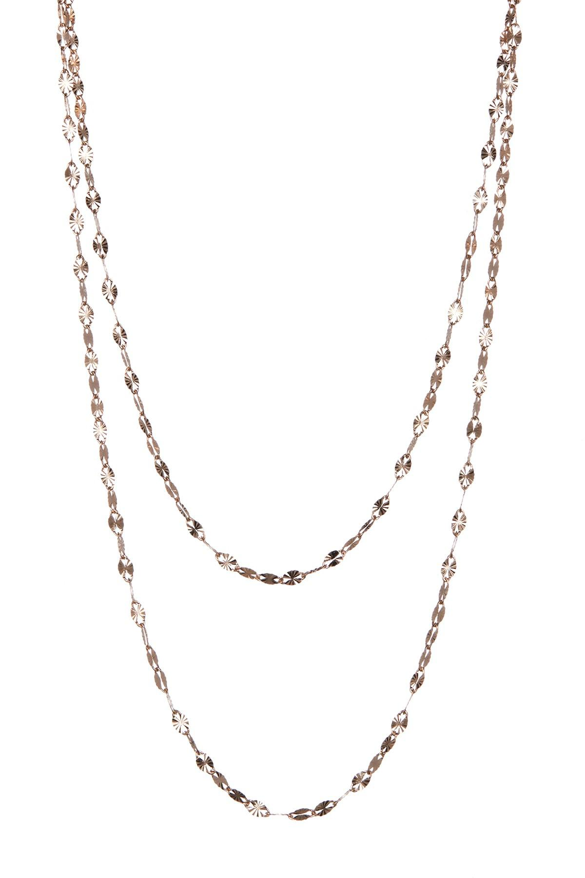Lyst Lana Jewelry 14k Rose Gold Double Strand Necklace in Metallic