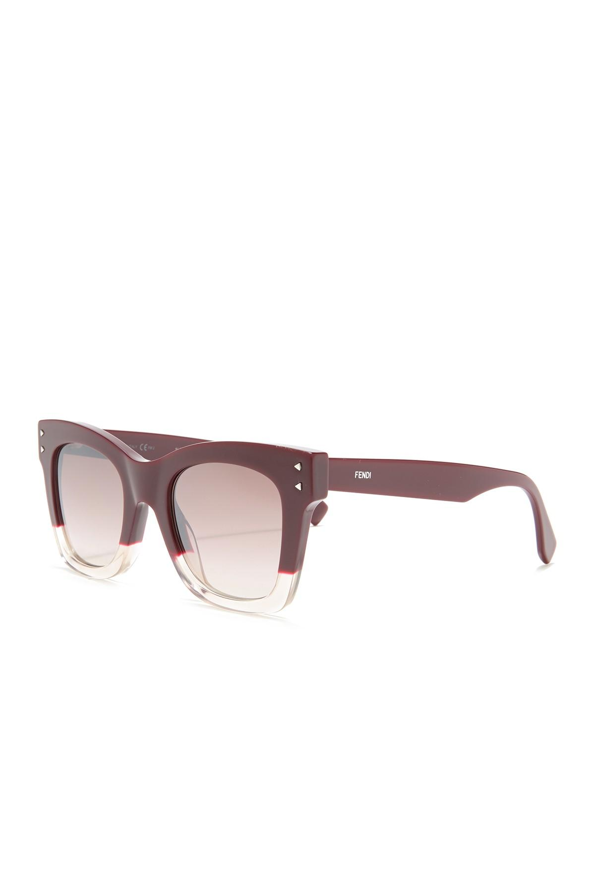 36d213527740 Fendi - Multicolor Square 49mm Sunglasses - Lyst. View fullscreen