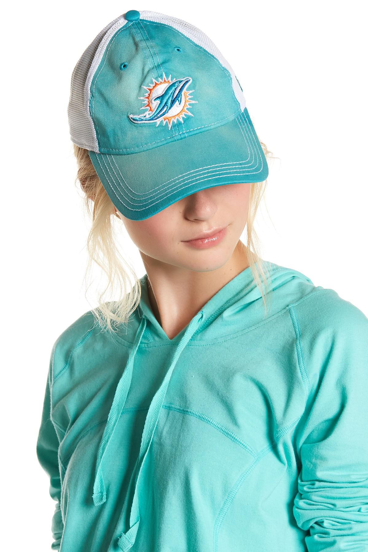7b81ec05842f5 ... block knit floppy hat cth8095 lyst ce45f 07441  hot lyst ktz miami  dolphins baseball cap in blue 628b8 55e85
