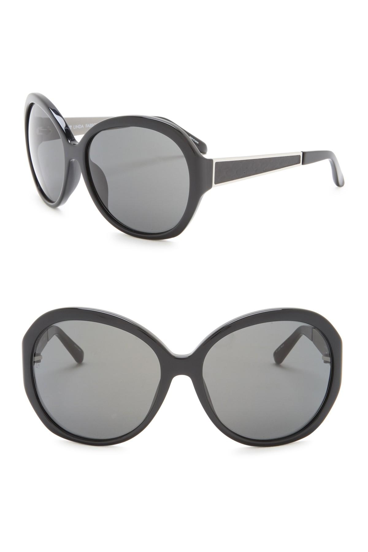 21bfcc0cfa1 Lyst - Linda Farrow 61mm Snake Butterfly Sunglasses in Gray