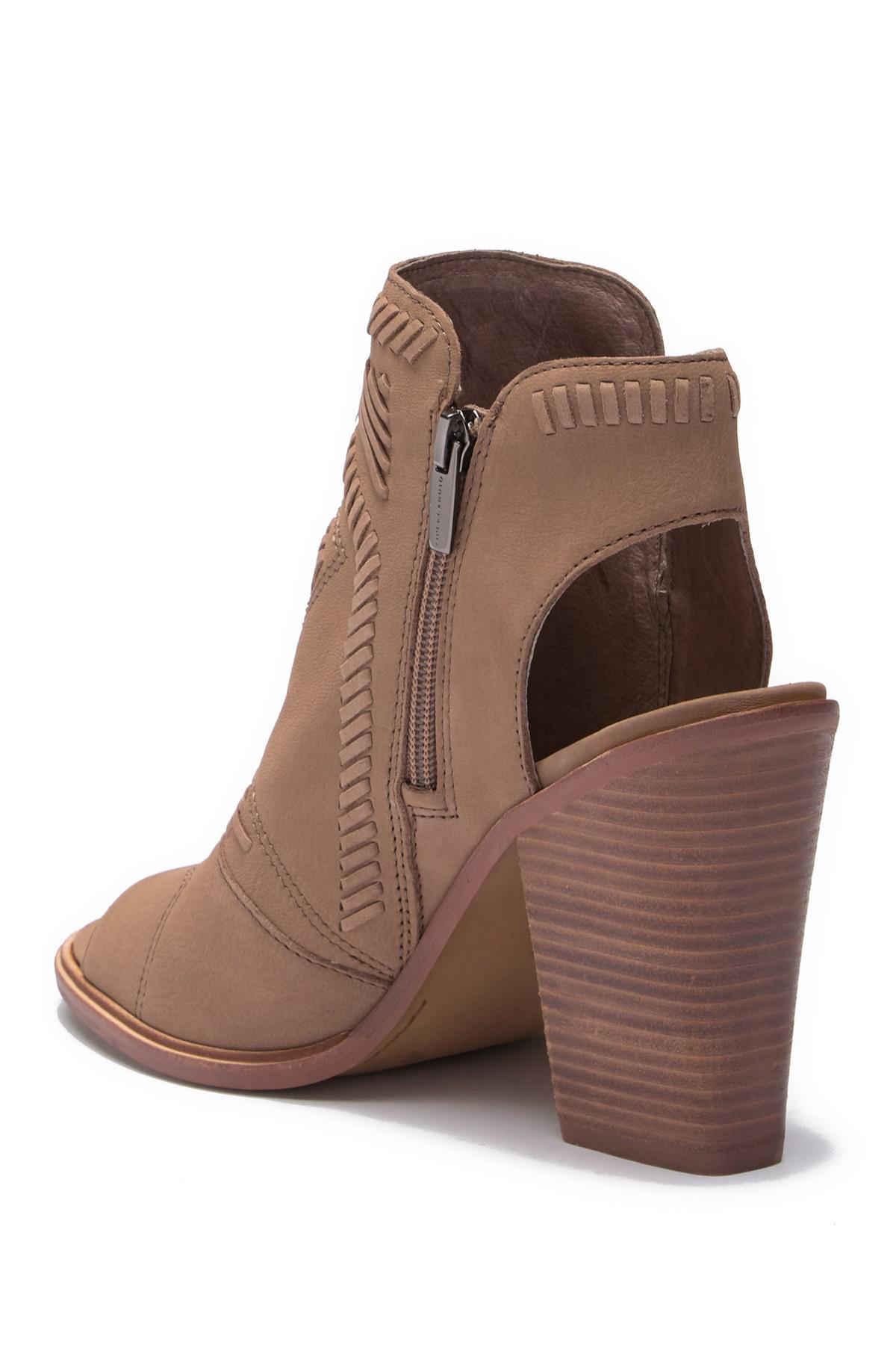 cd0fc6d347 Vince Camuto Karinta Block Heel Bootie (women) in Brown - Lyst