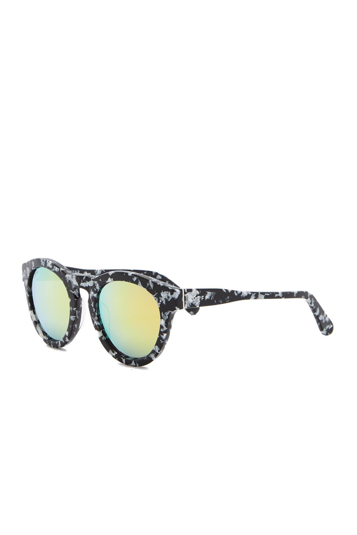 bb8fda1768 DIFF - Multicolor Dime Round Keyhole Bride 46mm Acetate Sunglasses - Lyst.  View fullscreen