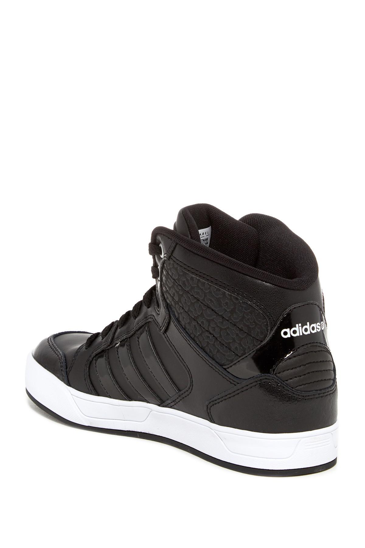 lyst adidas bbneo raleigh hi top sneaker in schwarz