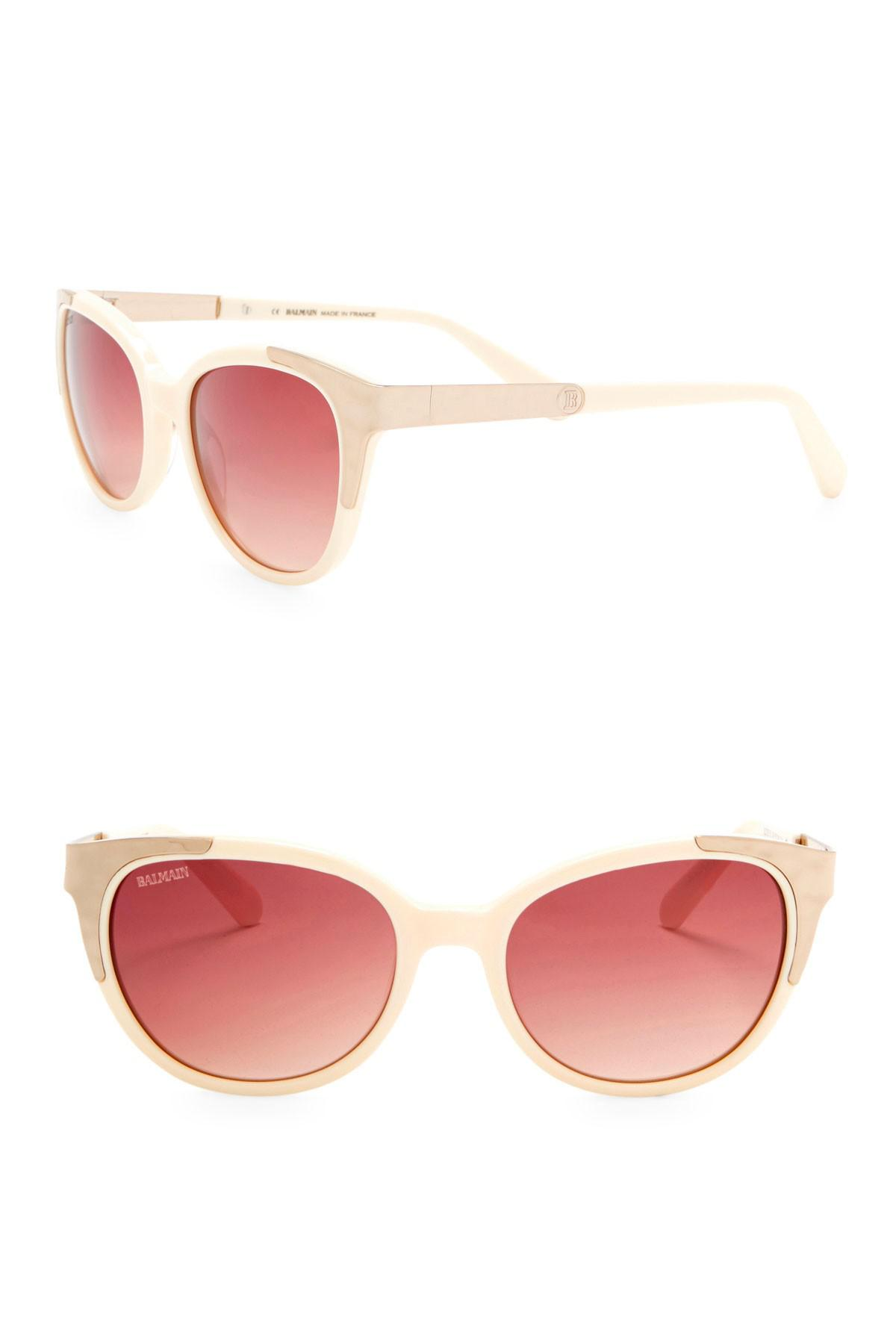 01eb903e97 Lyst - Balmain 53mm Cat Eye Sunglasses in White