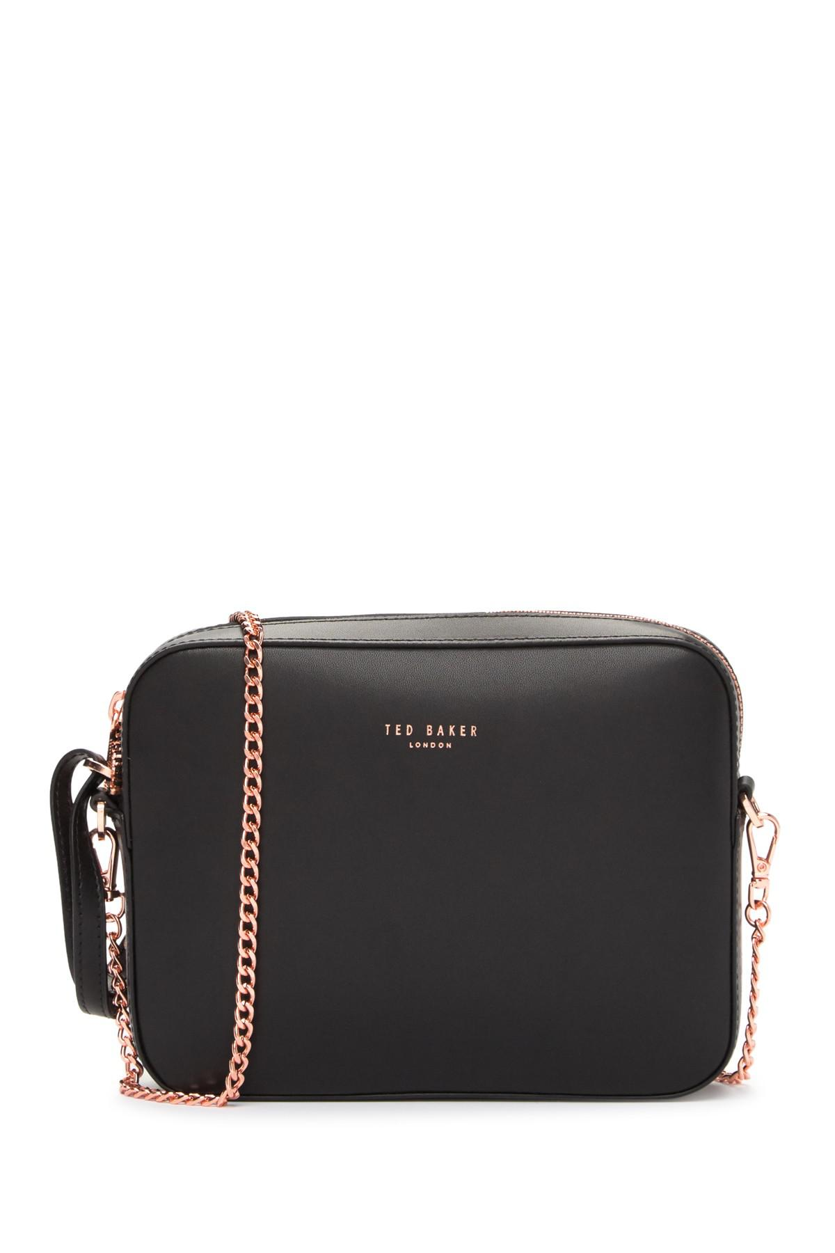 476fdd370 Ted Baker Laneyy Chain Strap Camera Bag in Black - Lyst